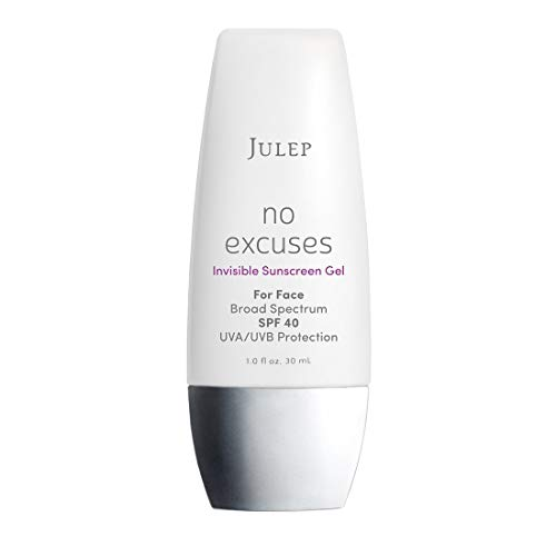 Julep No Excuses Invisible Facial Sunscreen Gel Broad Spectrum SPF 40 With Vitamin E, 1 Fl Oz