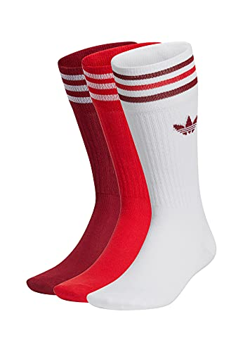 adidas Originals Socken Dreierpack SOLID CREW GN3073 Mehrfarbig Rot, Size:35/38