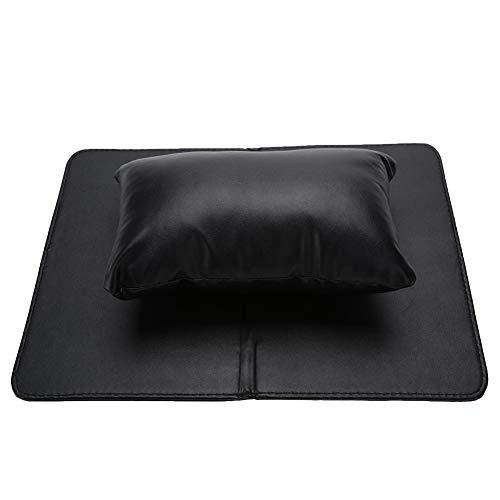 Almohada de mano para decoración de uñas, almohada de reposo de manos lavable desmontable de cuero suave de PU + estera de mesa de manicura plegable 3 colores(segundo)