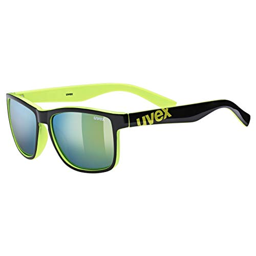 uvex lgl 39 lunettes de soleil Unisex-Adult, Black Lime, one size