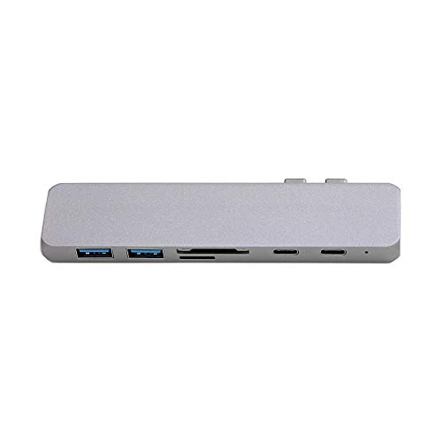 MMFXUE USB C Hub Multiport Adapter, 7 in 1 USB C to HDMI 4K adapter, USB 3.0 ports, SD/TF card reader compatible with MacBook Pro 13/15, more Type-C devices