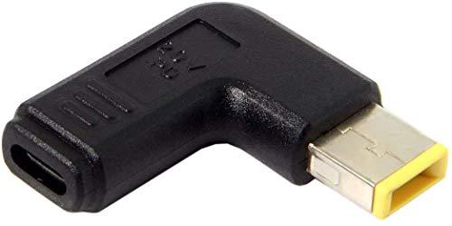 Adaptador USB tipo C USB-C a amarillo cuadrado conector adaptador PD emulador gatillo 90 grados ángulo para Lenovo ThinkPad X1 Yoga