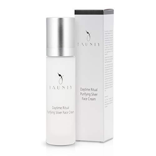 Jaunty Microsilber Tagescreme mit Vitamin E, Panthenol, Zink und Oleanolsäure - sofort einziehende Feuchtigkeitscreme für empfindliche Haut - 50ml