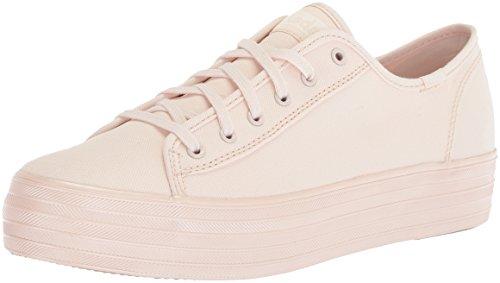 Keds TPL Kick Shimmer Canvas Pink, Zapatillas Mujer, Rosa, 39 EU