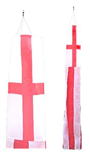 Angleterre Croix de St George Drapeau en nylon 5 'Manche à air