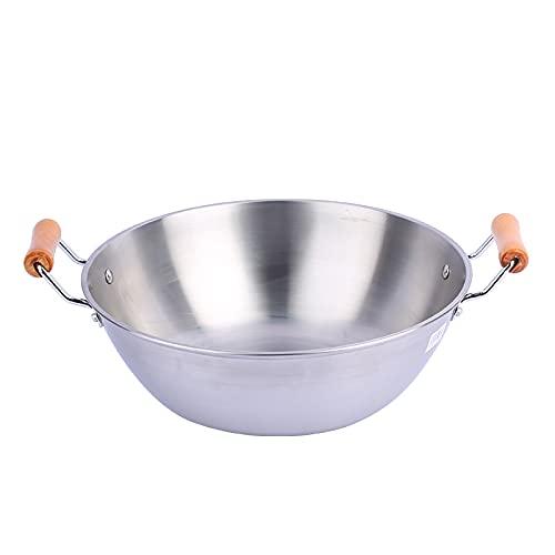Stainless Iron stew Pot Stock Pot Multi-Purpose Pot Physical Non-Stick Design Double Ear stew Pot Color Stainless Steel Specifications: 32cm, 34cm, 36cm, 38cm, 40cm