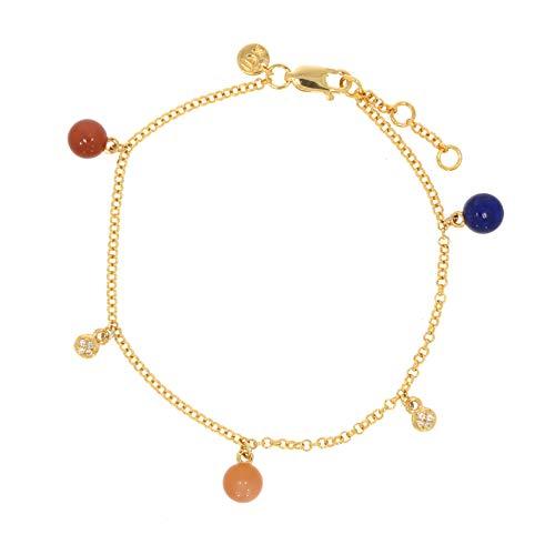 XEN Armband Multicolor 2,75 ct. 17-19 cm gelbvergoldet