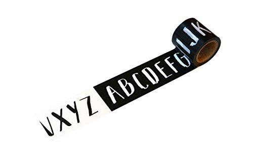 小屋女子DIYカフェ 養生テープ アルファベット YJV-16 ブラック/グレー 45mmx5m