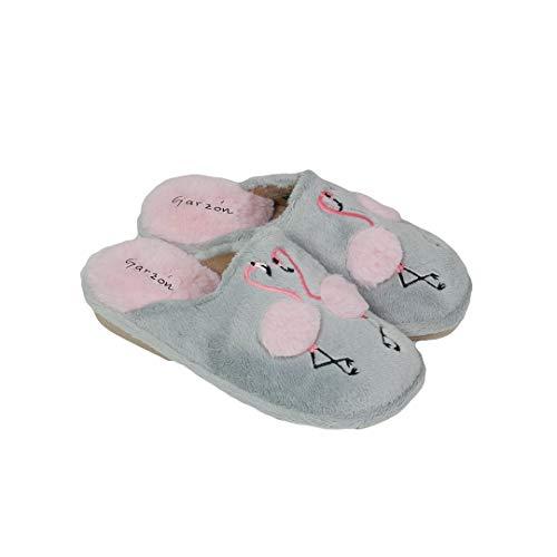 Garzon Flamingo-Schuhe für Jungen, Piso Eva, - Grau / Rosa - Größe: 39 EU