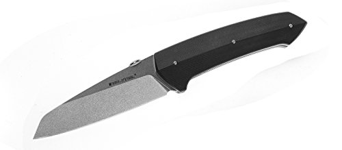 Real Steel RSK H9 Takin liner lock folding knife G10 handle long blade with Nylon Etui(Stonewash)