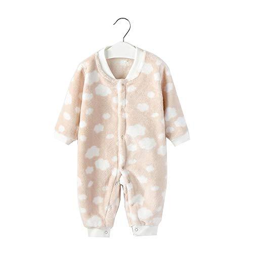 YumEIGE Slaapromper peuter-pyjama's, suède materiaal, voorste gesp, slaapromper voor baby-meisjes, met mooi patroon, baby-pyjama's, 3-18 maanden peuter-babykleding, woonwear