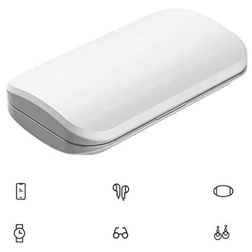 ZALIANG Multifunktionale Handy-Desinfektion Box mit 99,99% Sterilisation Rate Ultra High Efficiency Sterilisation tragbaren Sterilisator Handy-Sterilisator Gläsern Weiß