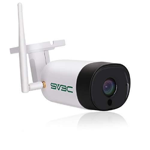 SV3C Telecamera wi-fi Esterno senza fili HD 3MP Videocamera Sorveglianza Esterno wifi con IP67 Impermeabile, Visione Notturna, Motion Detect, Audio a 2 Vie, Vista a Distanza Tramite Phone/PC