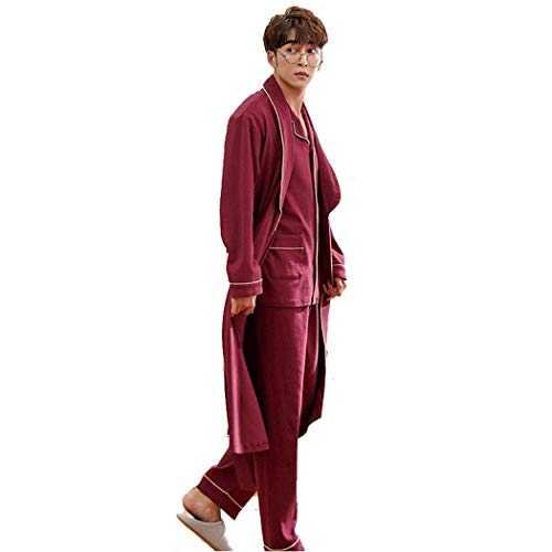 NOSSON Onesies Pyjamas Herren Robe Cotton Langarm Lose Bademäntel Long Pyjamas Home...