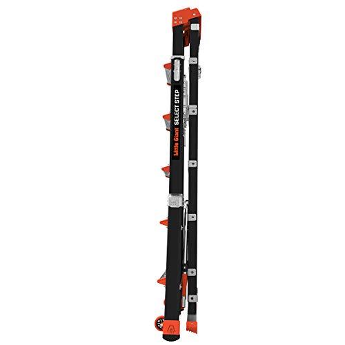 Little Giant Ladder Systems 15131-001 Select Step 6 to 10-Feet Adjustable Fiberglass Stepladder