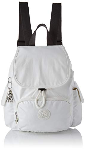 Kipling Damen City Pack Mini Rucksack Weiß (White Metallic)