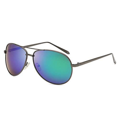 Acc Dazzling Farbe polarisierte Sonnenbrille im Freien Antrieb Sonnenbrille Legierung Double Beam Brille (Color : F)