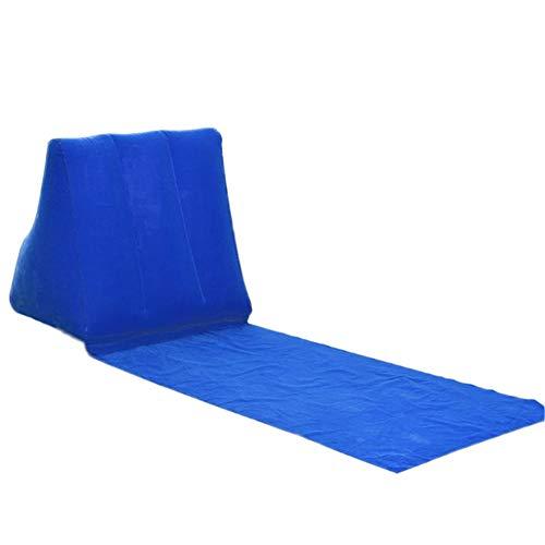 DADZSD Neue Aufblasbare Strandliege Matte Kissen PVC Weiche Freizeit Stuhl Sitz für Camping Outdoor XD88-Blau