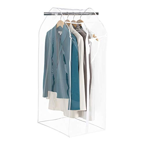 Richards Homewares Clearly Organized Clear Vinyl Framelss Suit Bag (15'x22'x42'), 15' x 22' x 42',