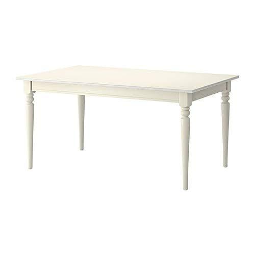 INGATORP インガートルプ 伸長式テーブル, ホワイト 704.282.06