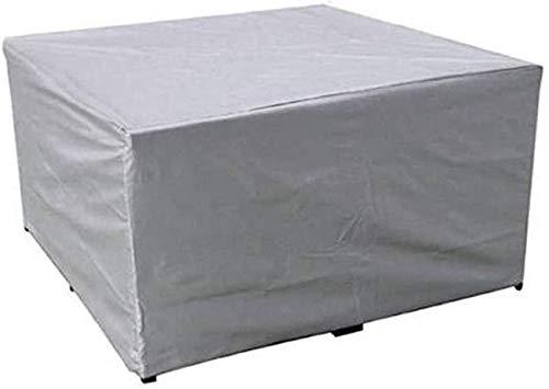 Fundas para Muebles de jardín a Prueba de Agua, Cubierta para Muebles de Patio Rectangular, diseño de cordón para Exteriores, protección de Mesa para terraza y Patio, Lona Impermeable