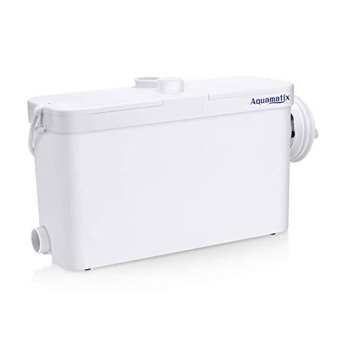 Aquamatix Excellencia S - Hebeanlage Abwasserpumpe Haushaltspumpe mit Edelstahlmotor für Hang Toilette WC 500W Leise