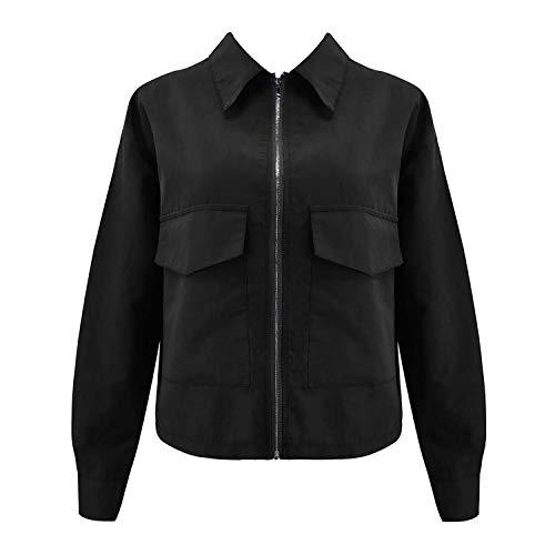 Feing Women's Jacket Windbreaker Donna Estate Cappotti Manica Lunga Basic Giacche Bomber Sottile Giacca Donna - - L