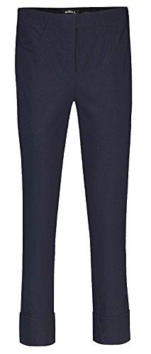 Robell Bella Slim Fit 7/8 Schlupfhose Stretchhose Damen Hosen #Bella 09versch.Farben (48, Marine(69))