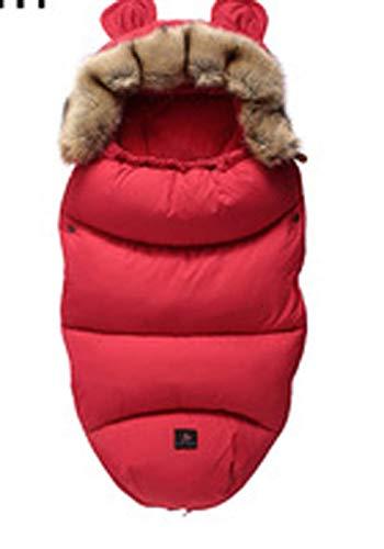 CHRONSTYLE Baby Schlafsack Für Kinderwagen Kutsche Kinderwagen Fußsack Warmer Winter Wickelumschlag Für Neugeborene Baby Kokon (rot, 100 x 46 cm)