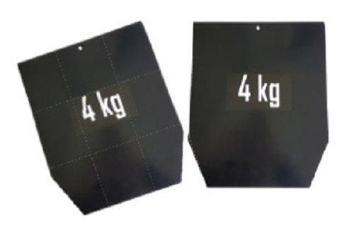 Sveltus Placa Acero para Chaleco Pro (par) Peso–Chaleco lastrado (para Adulto, Color Negro