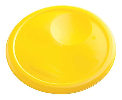 Rubbermaid Commercial Products FG572500YEL Lid for Round Food Storage Containers, 6-8 Quart, Yellow (Pack of 12)