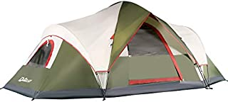 QUICK-UP 6 Person Tents for Family Camping, Quick Easy Set Up, Instant Pop Up Dome Outdoor Tent, Rainproof with Rainfly and Mesh Roofs & Door & Windows - 13.5' x 7'