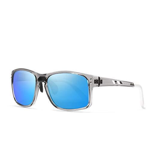 KDEAM Classic Square Sunglasses Men Sports Polarized & 100% UV Protection Outdoor eyewear KD524