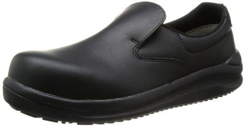 [ミドリ安全] 安全作業靴 JSAA認定 耐滑 スリッポン ハイグリップスーパー NHS600 メンズ ブラック 22.0(22cm)