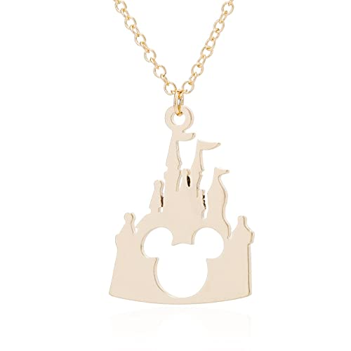 nice cheng Animación De Dibujos Animados Paradise Castle Collar Hollow Mickey Castle Collar con Colgante