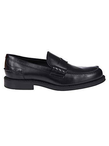 Tod's Luxury Fashion Herren XXM80B0BR30LYGB999 Schwarz Leder Mokassins | Jahreszeit Permanent