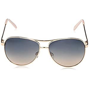 Jessica Simpson J106 Iconic UV Protective Metal Aviator Sunglasses | Wear All-Year | Glam Gifts for Women, 59 mm, Rose…