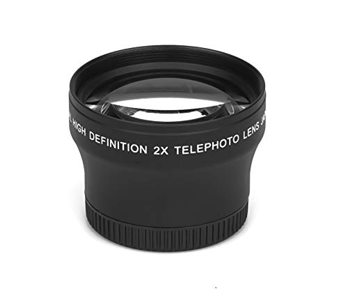 2.0X - 37mm HD Tele Vorsatzlinse Echtglas Marken Optik Vorsatz Linse Objektiv 2X