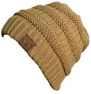 C C Beanie winter knit slouch style woollen knit beanie skullie fold over cuff fashion warm unisex beanie hat must have lastest fashion accesory