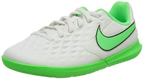 Nike JR Legend 8 Club IC, Zapatillas de ftbol, Platinum Tint Rage Green Black, 36 EU
