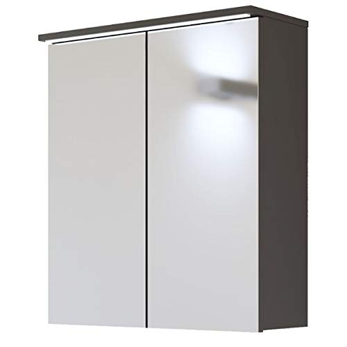 Spiegelkast 'Jay SP60' badkamerspiegel 60 cm badkamermeubel spiegel kast LED modern