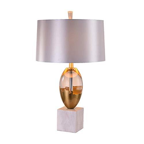 Tafellamp, tafellamp, slaapkamer, decoratie, tafellamp, salontafel, bureau, kantoor, nacht, eenvoudige marmer, klassieke lampen, stof, schaduw, decoratieve verlichting