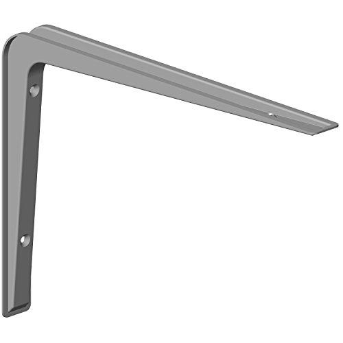 Element System 18133-00142 Regalkonsole Alido/Regalträger / 5 Größen / 3 Farben / 2 Stück/weißaluminium / 190 x 270 mm, 190x270 mm