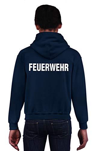Feuer1 Sweat-shirt à capuche pour enfant Bleu marine