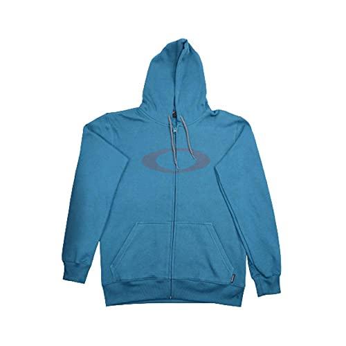 Moletom Oakley Aberto Ellipse F/z Hoodie Masculino Azul