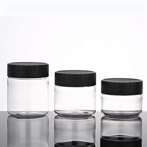 JSJJAUJ Botella de envase cosmético 5 / 10pcs 30ml / 40ml / 50ml / 60 ml / 80 ml Black Blever Plastic Jar y Tapas vacíos Cosmetic Contenedores Caja Botella de Almacenamiento de Viaje Maquillaje