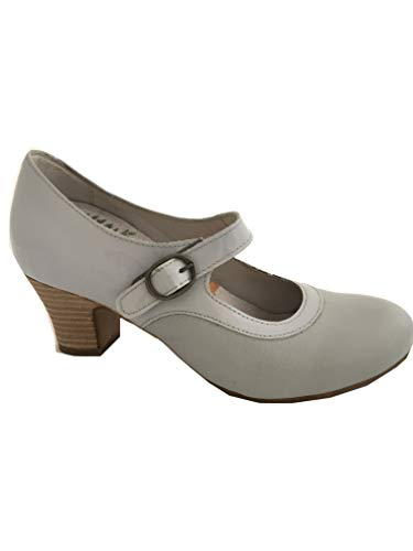 Brako 6973 Mary Jane Pumps Dream Gris Mago hellgrau (39 EU)