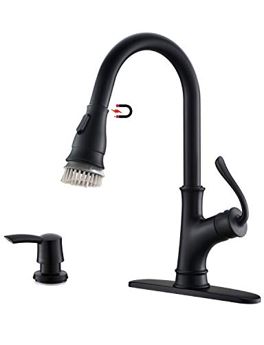 APPASO Touchless Kitchen Faucet with Pull Down Sprayer, Motion Sensor Activated Hands-Free Kitchen Faucet, Single Handle One Hole Pull Out Kitchen Sink Faucet