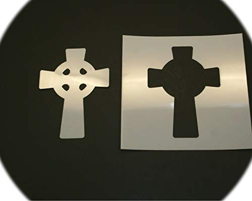 4' inch Celtic Cross Style Design Reusable Mylar Cutout Stencil Sign Art Craft DIY Supplies by CharmingSS LZ-4in-0480