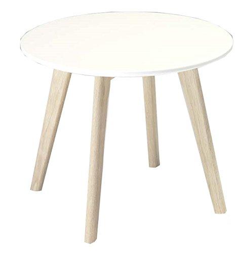 Moebelnet Wohnzimmertisch Livie in weiß/Eiche Couchtisch Beistelltisch Tisch